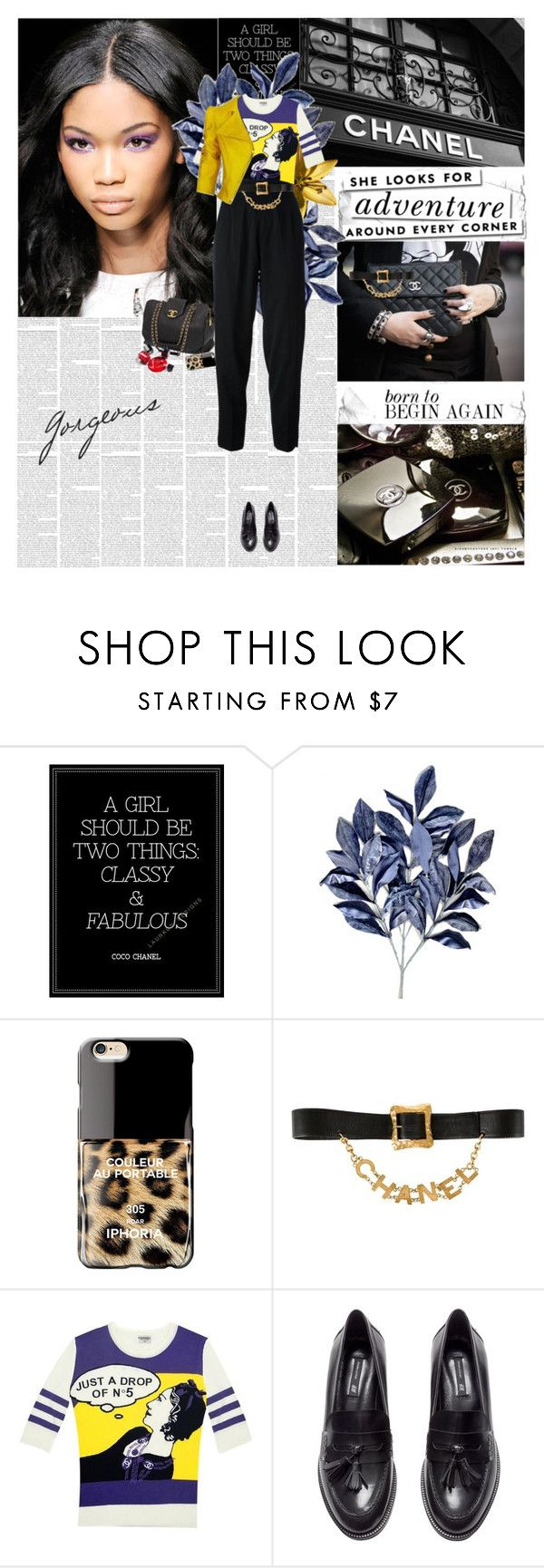 """Chanel"" by amimcqueen ❤ liked on Polyvore featuring Chanel, Kate Spade, Iphoria, Karl Lagerfeld, H&M, Emanuel Ungaro, women's clothing, women, female and woman"