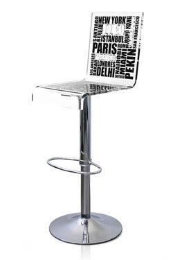 Tabouret En Plexiglas Transparent Et Pied Chrome Tabouret De Bar Reglable Tabourets De Bar Modernes Et Tabouret Haut