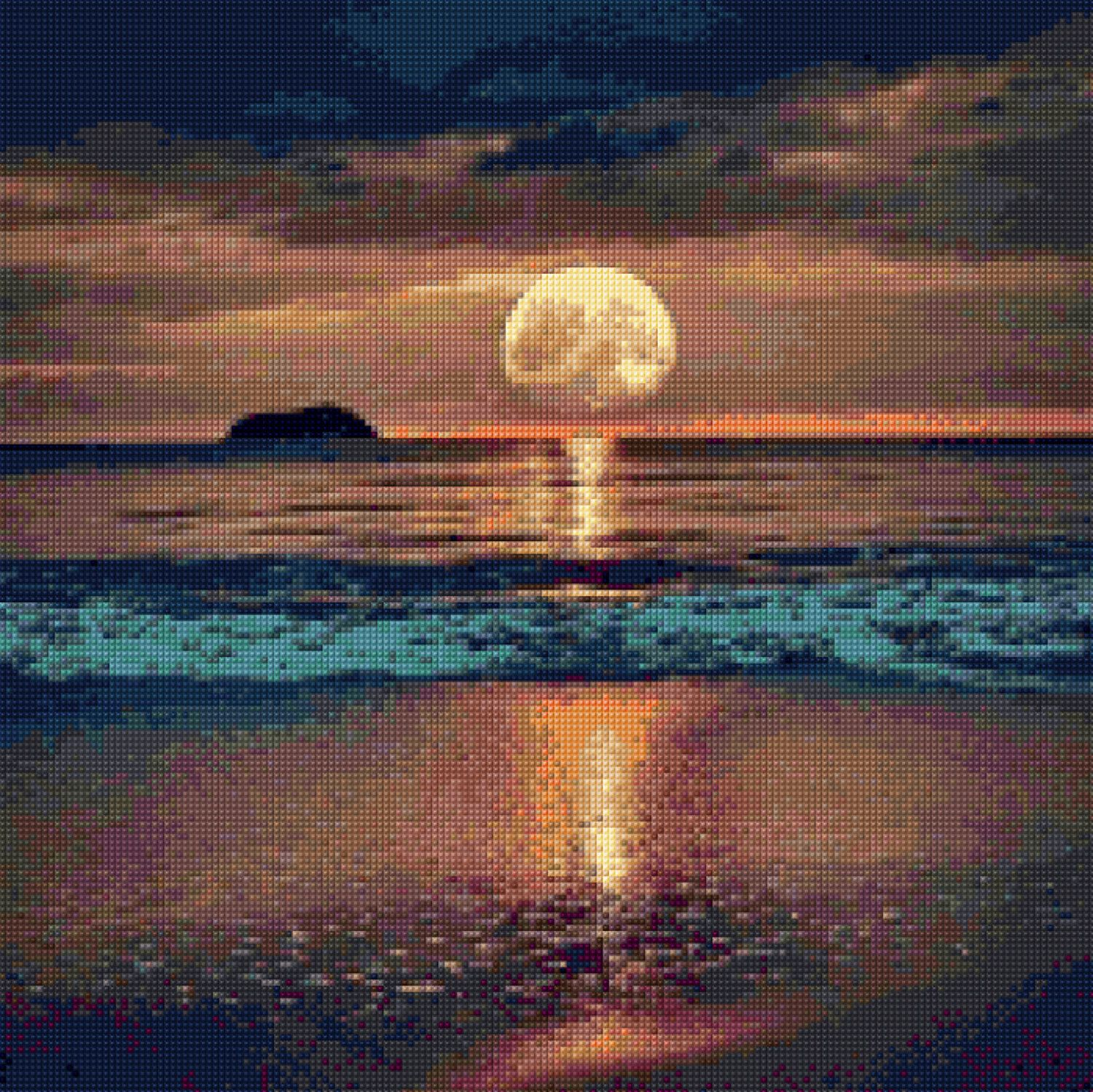 Moonlight Shore Cross Stitch Pattern Pdf Instant Download By Penumbracharts On Etsy