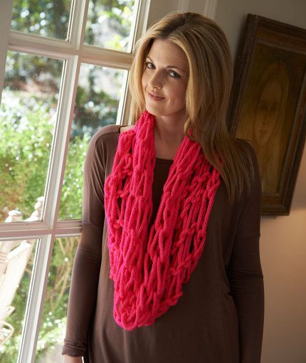 Arm Knit Vivid Cowl Knitting Pattern Red Heart To Try