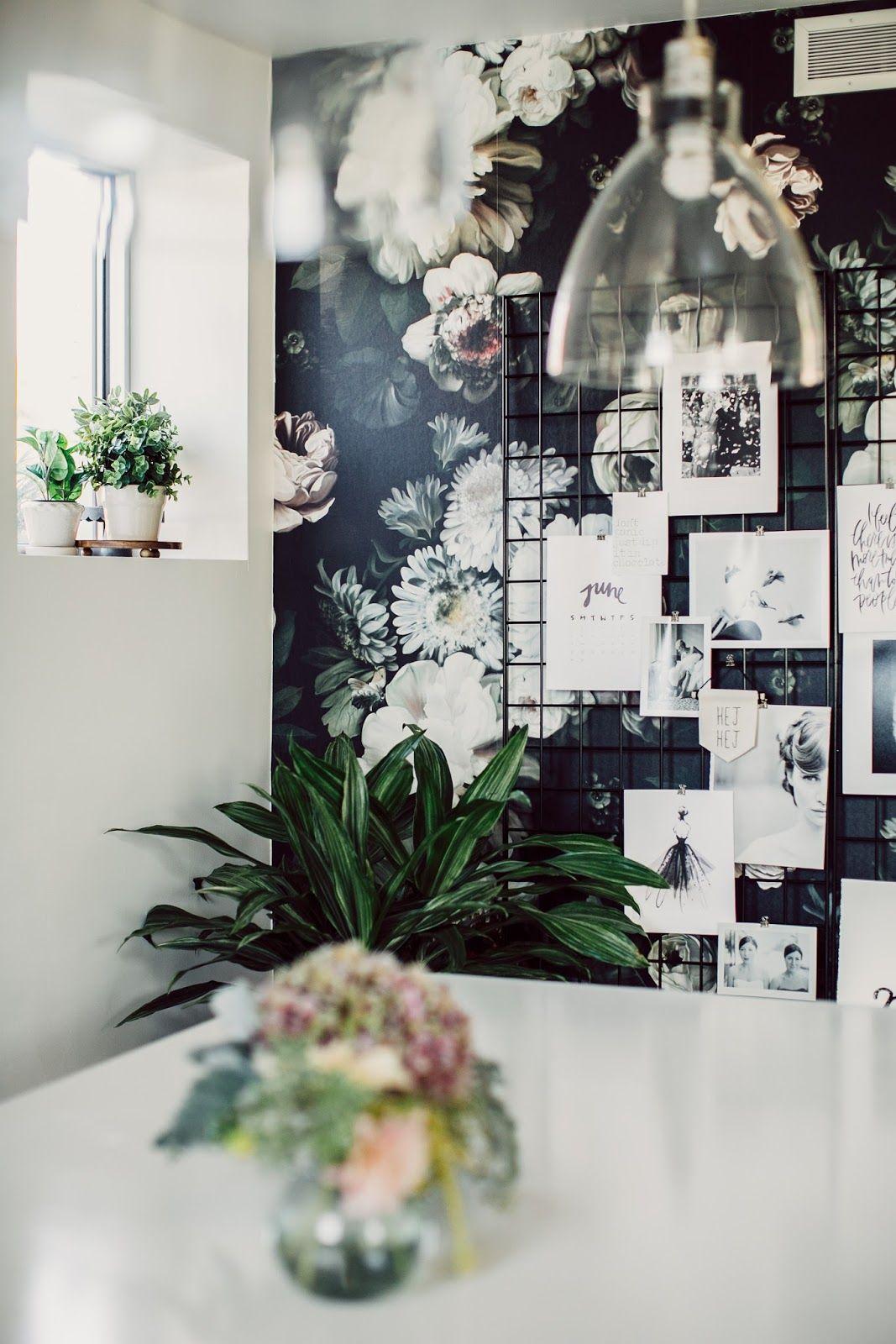 Usa Un Bureau Au Papier Peint Floral Decor Floral Wallpaper Home Decor