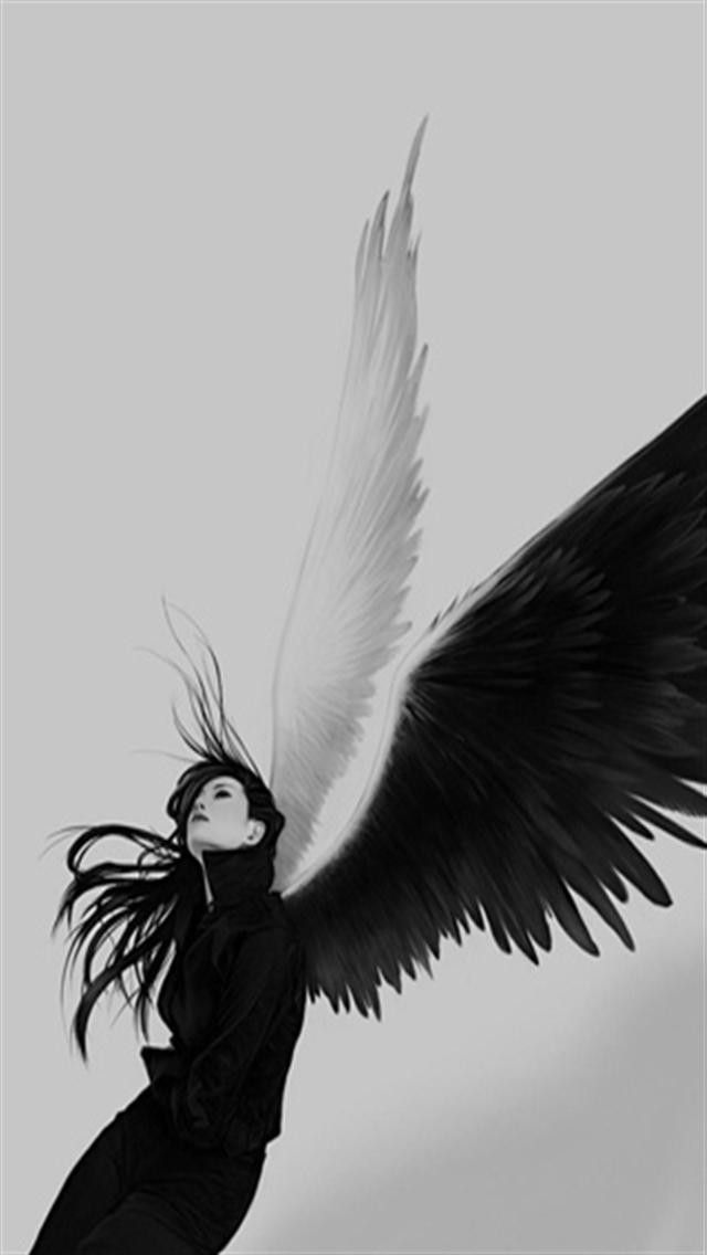 Angel Iphone Wallpaper Wallpapersafari Fallen Angel Angel Art Evil Angel