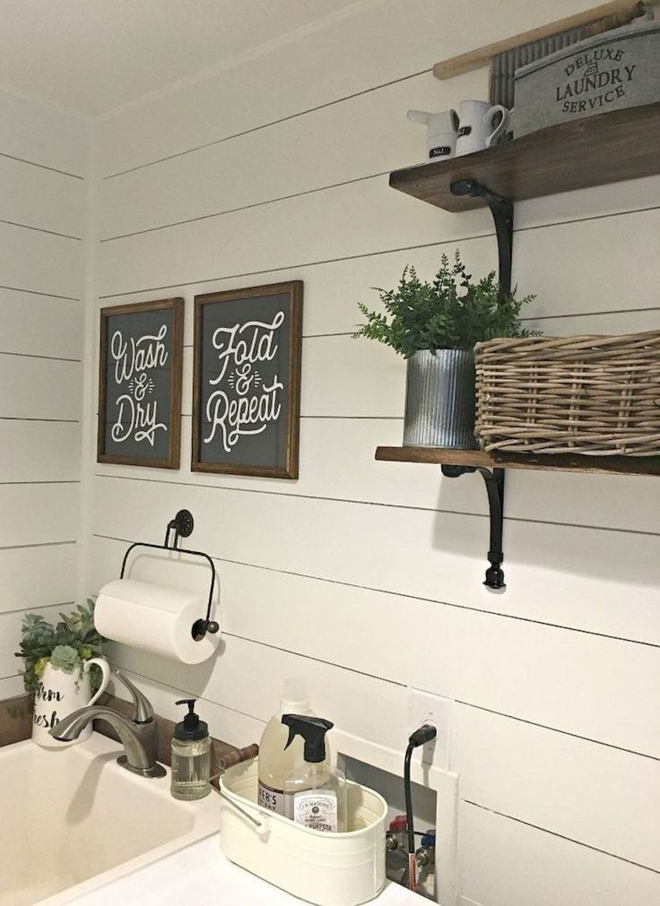 Modern Farmhouse Laundry Room Ideas 22 Insidecorate Com Rustic Laundry Rooms Farmhouse Laundry Room Farmhouse Laundry