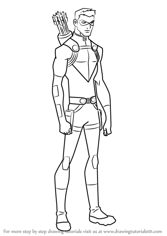 Learn How to Draw Red Arrow from Young Justice (Young