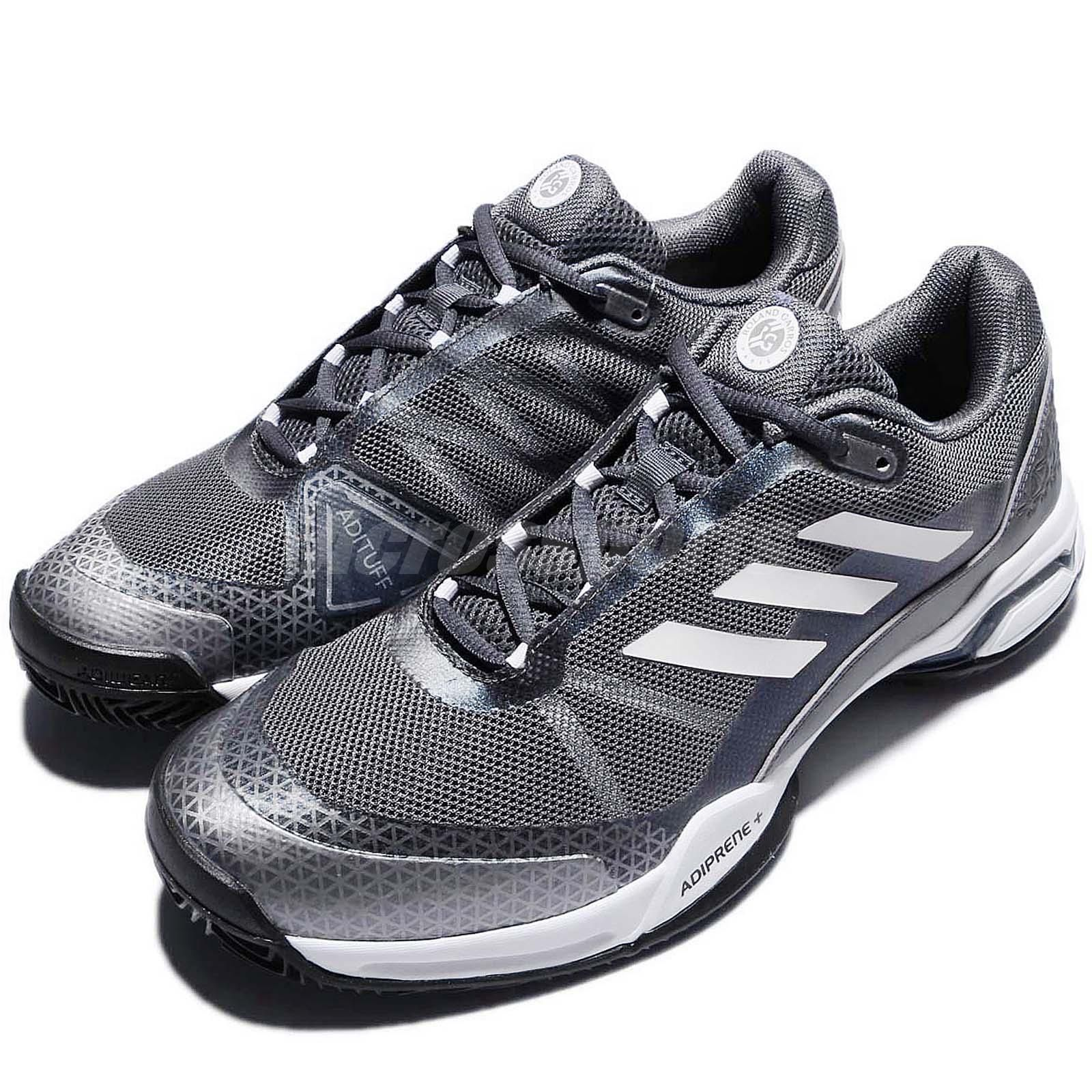hot sales 574c9 422f4 adidas Barricade Club Clay Grey Silver Men Tennis Shoes Sneakers Trainers  BA9155
