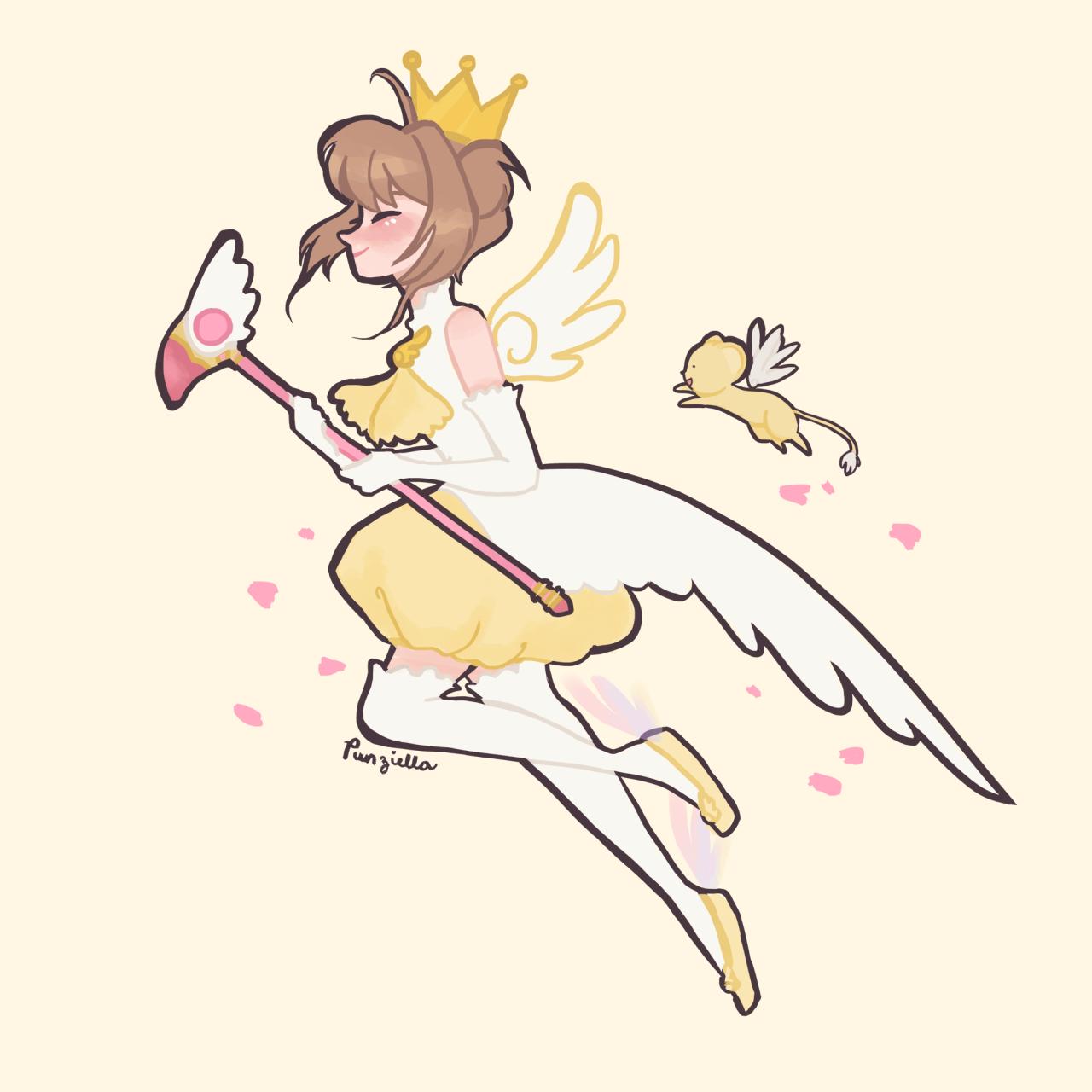 Estrella de la mariposa y rsquo; s varita me hizo perder Sakura ouoIt era Sailor Moon para la mayoría de ustedes, pero para mí fue Card Captor Sakura.  Vi esto quizás un millón de veces en Inglés, japonés y filipino.  Fantaseaba con ser un captor de la tarjeta y no otra cosa, a lo largo de toda años de primaria.  Puedo & rsquo; t creen que y rsquo; s sido 13 años desde oh mi dios.