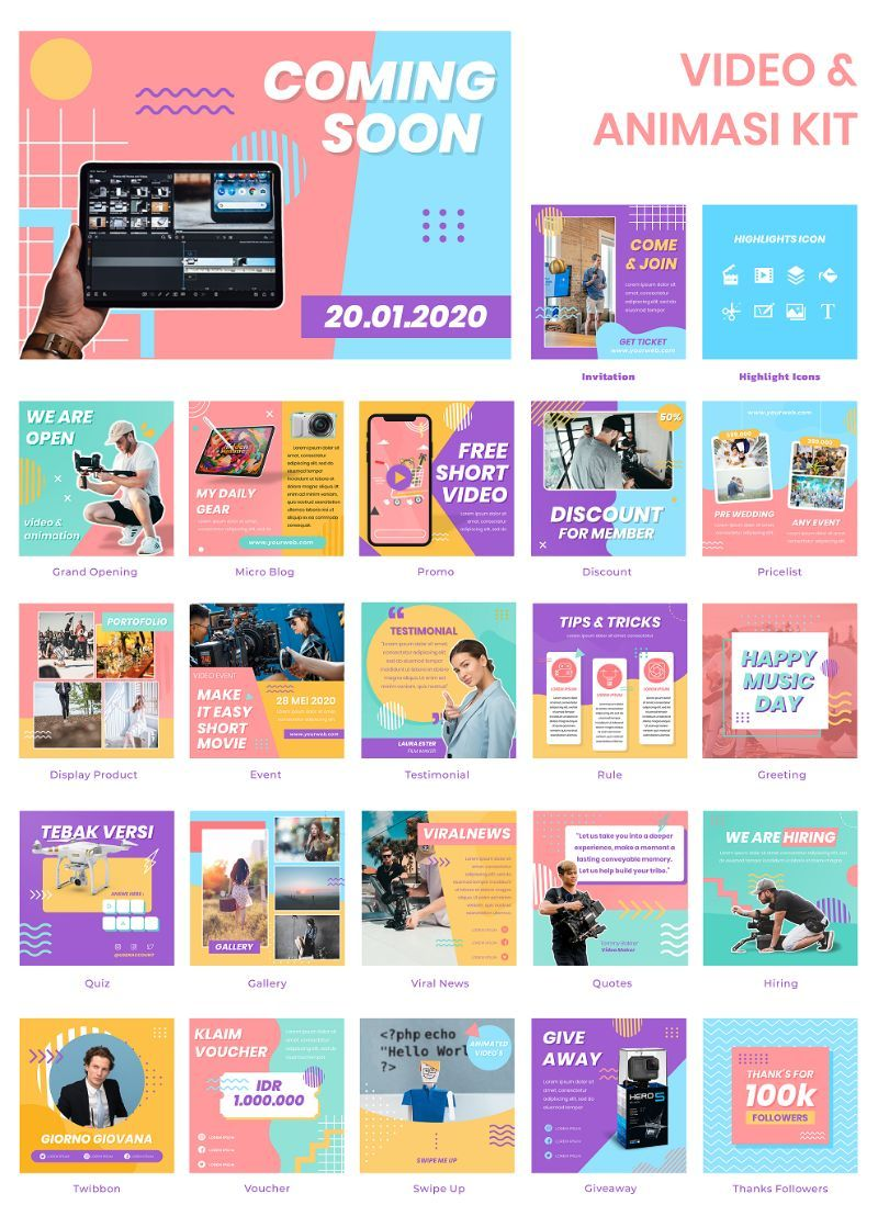 Pin Di Powerpoint Template Puzzle Feed Intagram