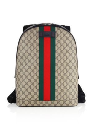5f98898050f GUCCI Large Logo Printed Canvas Backpack.  gucci  bags  canvas  backpacks