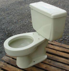 Vintage 1970 Pale Green American Standard Cadet Toilet Complete