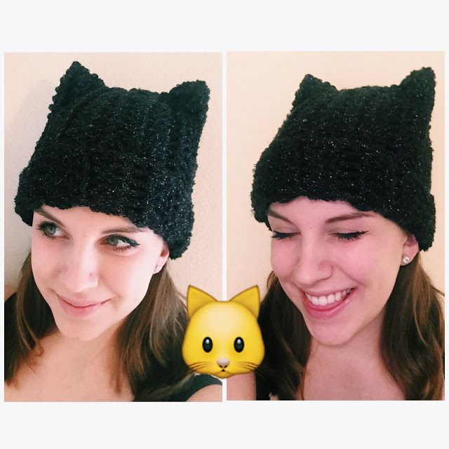 Crochet Kitty Cat Beanie | Gorros, Gorro tejido y Abalorios