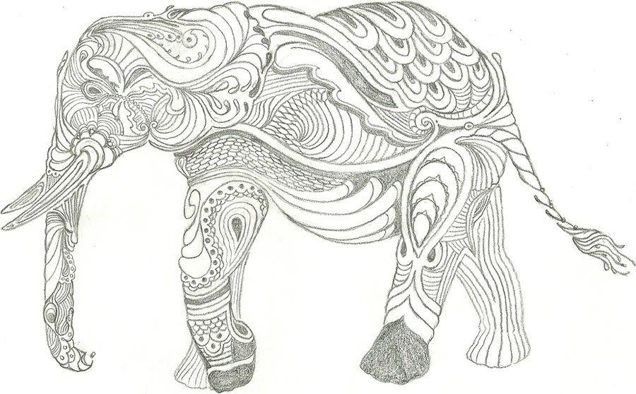 Tribal Elephant Drawing