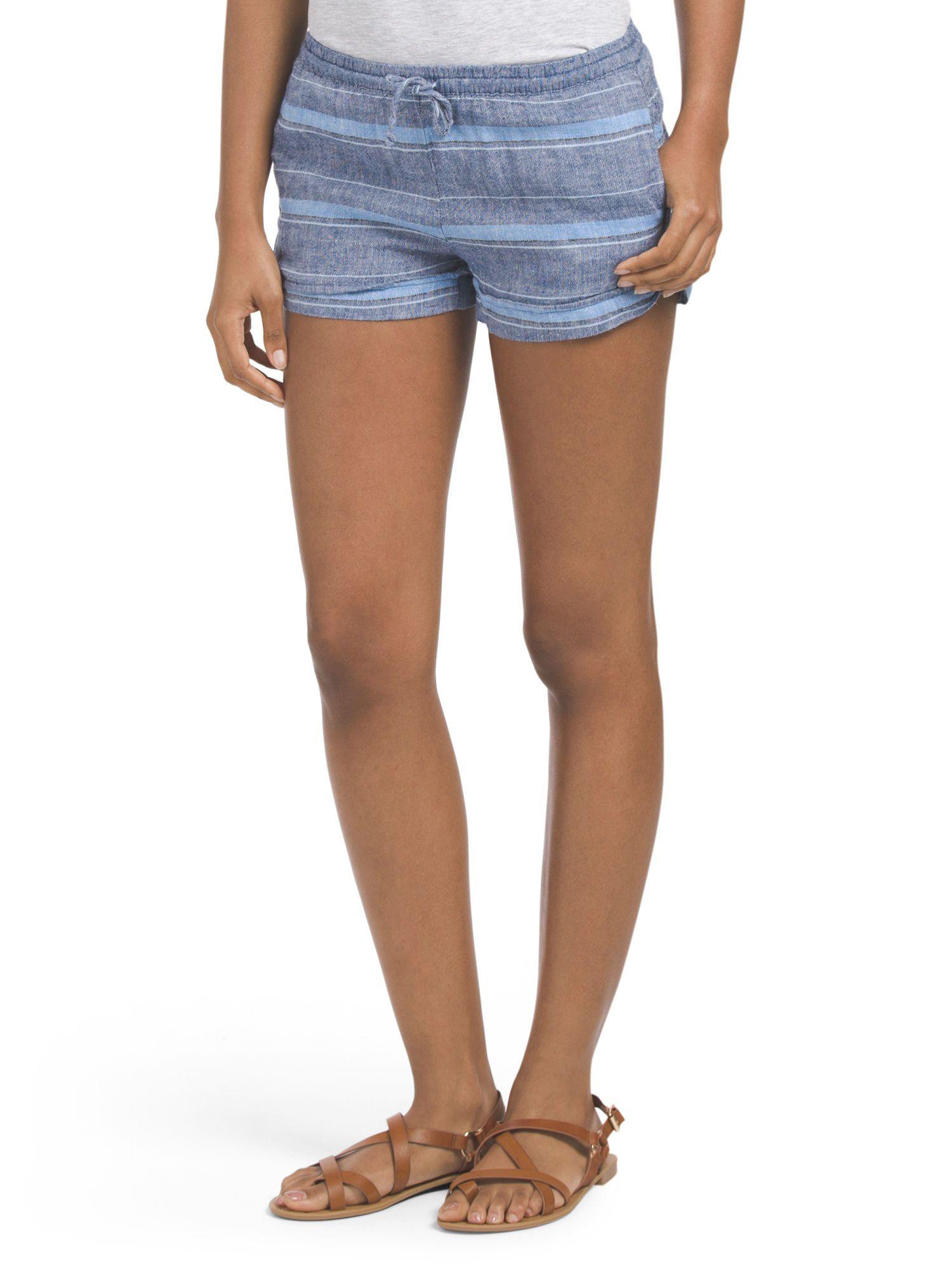 Indigo Rein Juniors Striped Short in Blue/Grey | TJ Maxx $12.99 | TJ ...