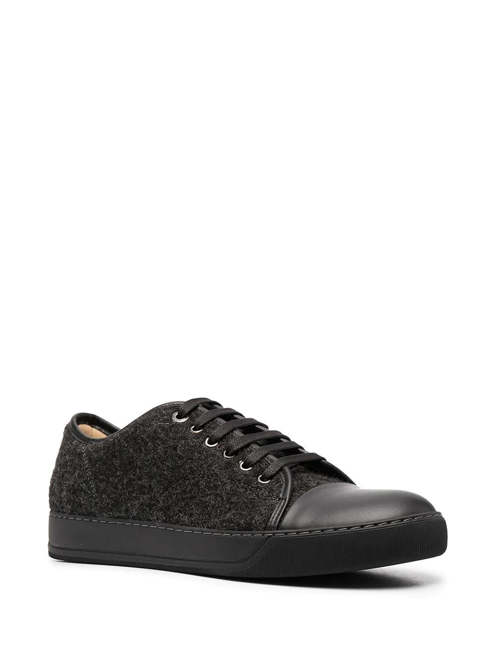 Lanvin Contrast Toe Lace Up Sneakers Farfetch Lanvin Sneakers Lace Up
