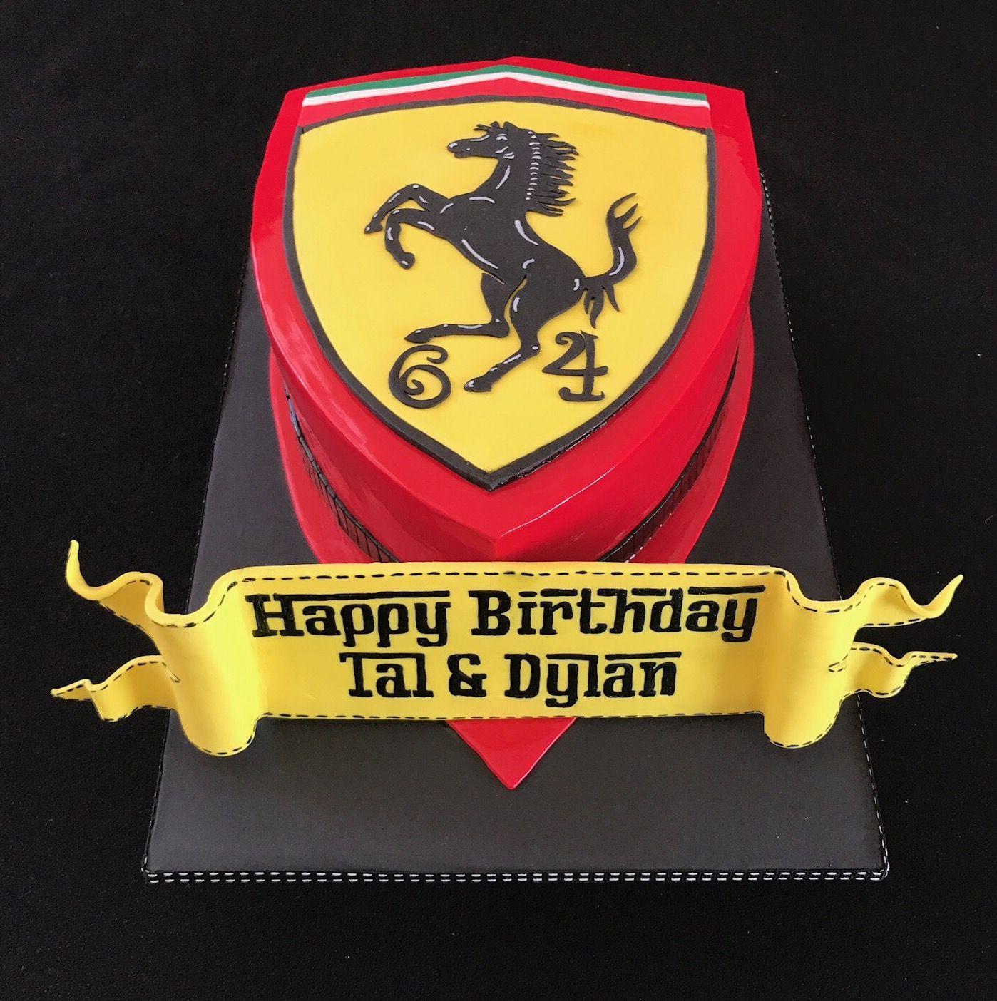 Ferrari logo cake Made with ️ edible_magic Ferrari cake