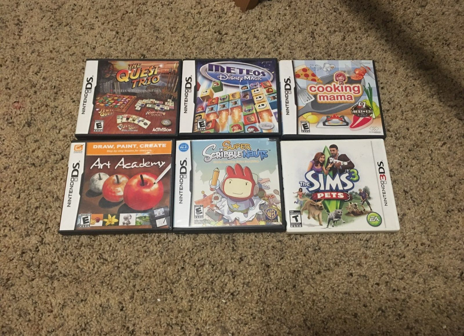 I have 5 DS games the quest trio (jewel quest, mah jong