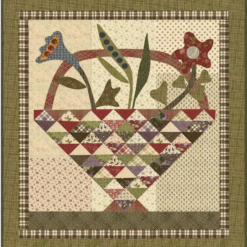 "Basket of Blooms  54"" x 58""  designed by Jan Patek"