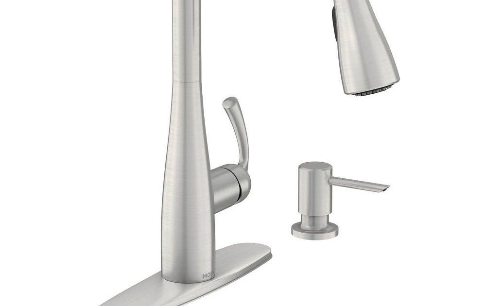 Cheap Kitchen Faucet Home Depot Moen Essie Single Handle Pull Down