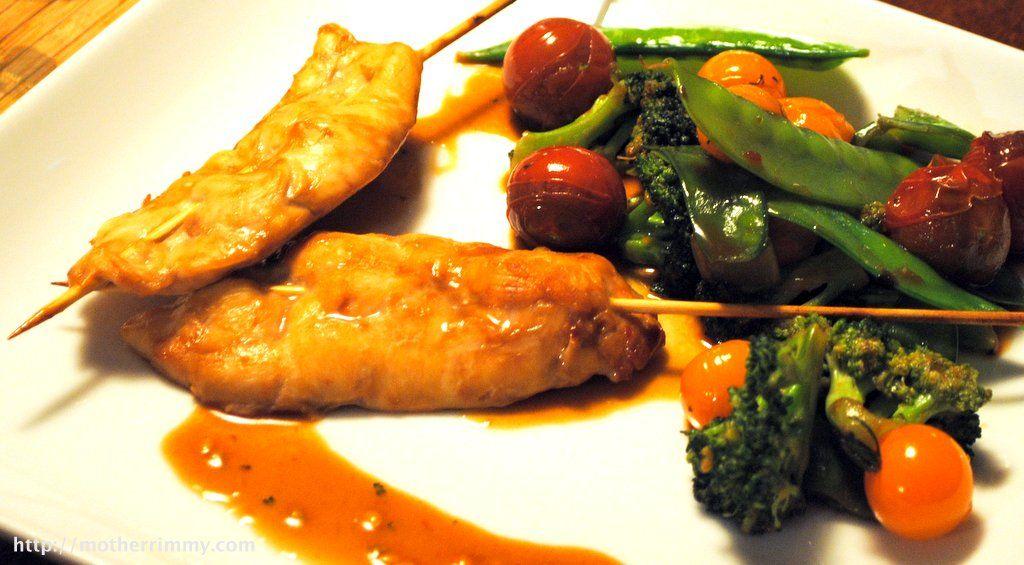Chicken Skewers with Spicy Hoisin Sauce