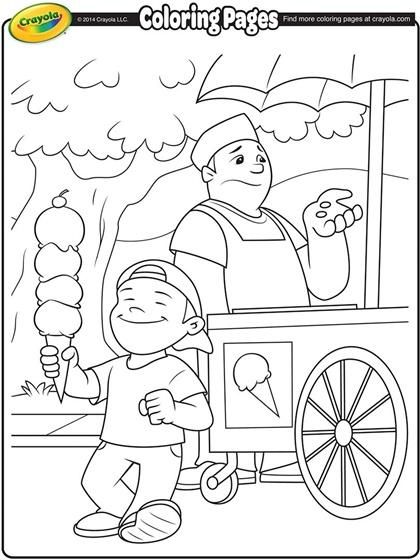 Ice cream time! Color in your favorite flavors. | Free Coloring ...