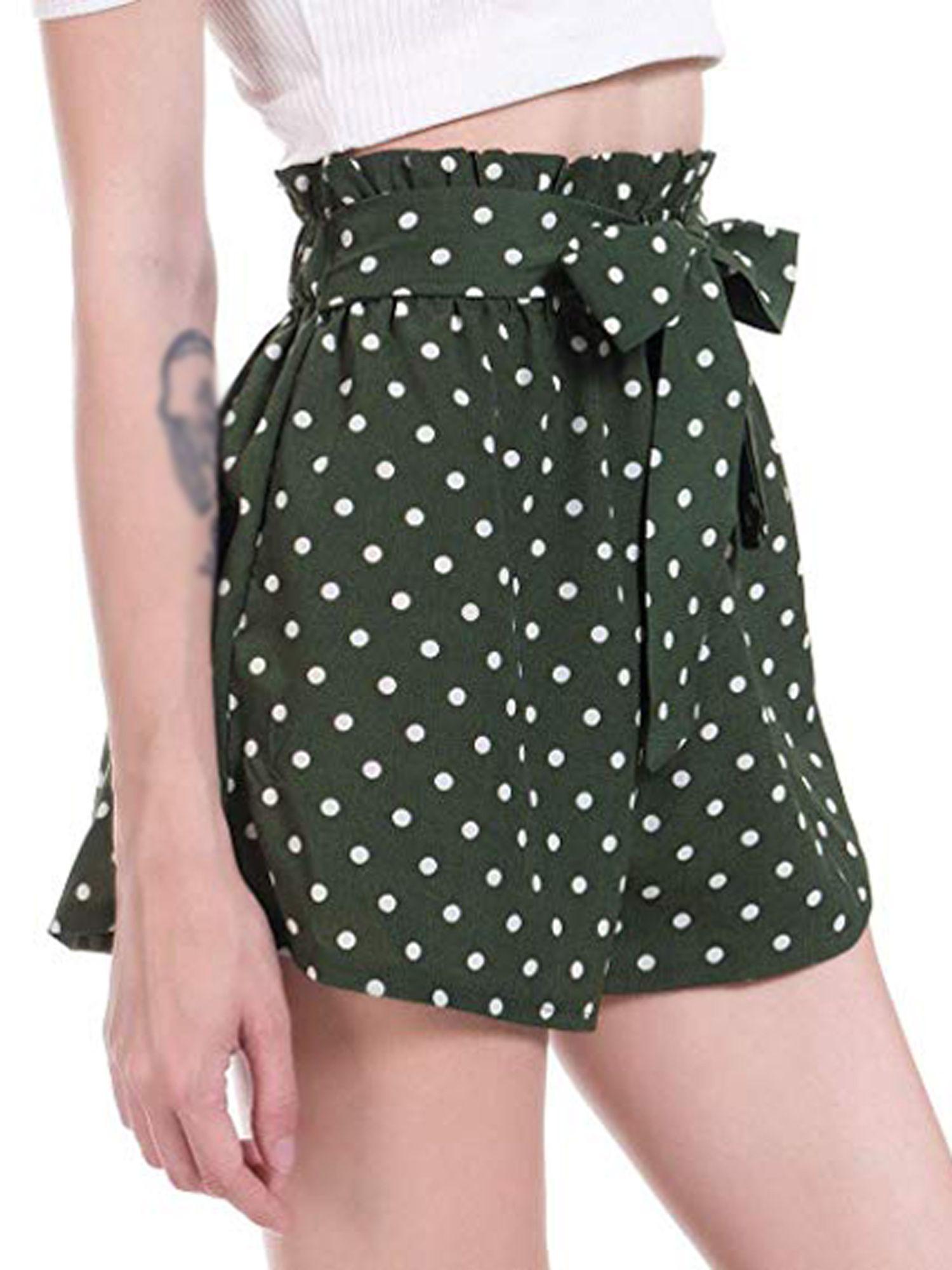 Lelinta womens casual elastic waist polka dot summer