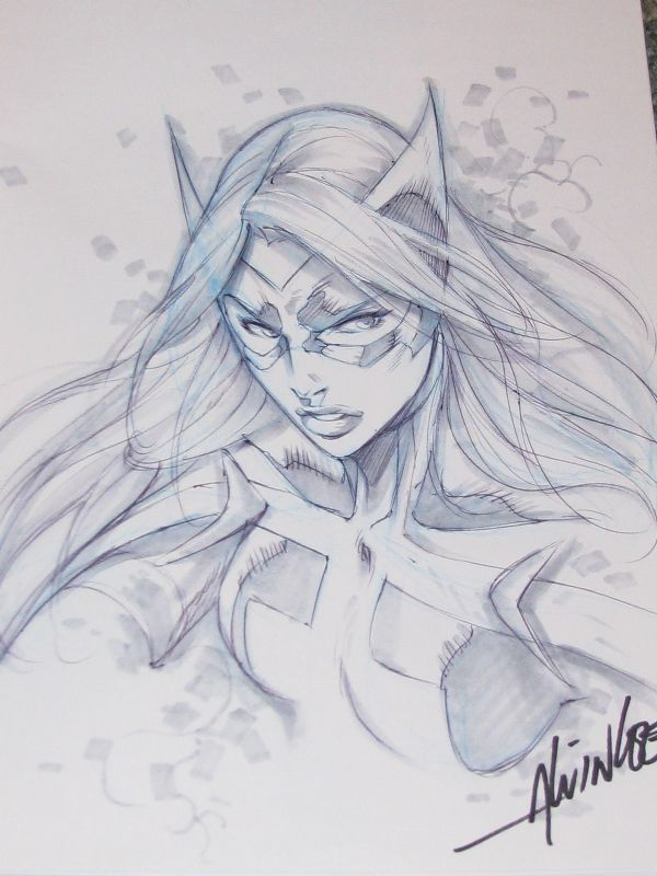 Huntress - Alvin Lee Comic Art