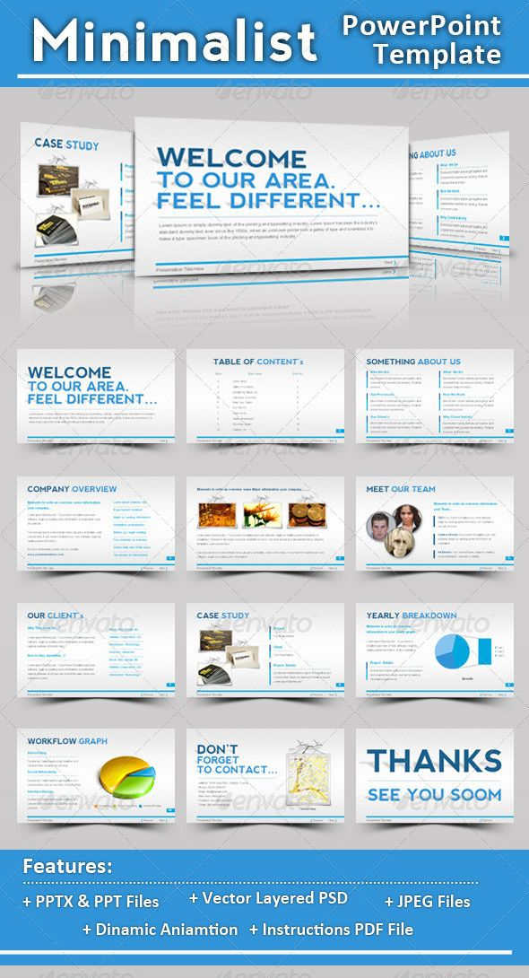 minimalist powerpoint template | minimalist, template and ppt design, Presentation templates