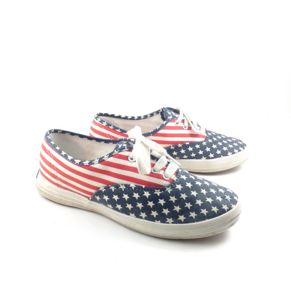 82383620003 Keds Canvas Sneakers Vintage 1990s Champions Flag Stars and Stripes Women s  size 5 1 2 by purevintageclothing on Etsy