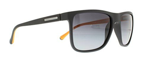 dd6ab244442c DG Dolce Gabbana Mens OverMolded Rubebr Polarized Square Sunglasses Grey  Rubber Polarized Grey Gradient 56 mm    You can get additional details at  the image ...