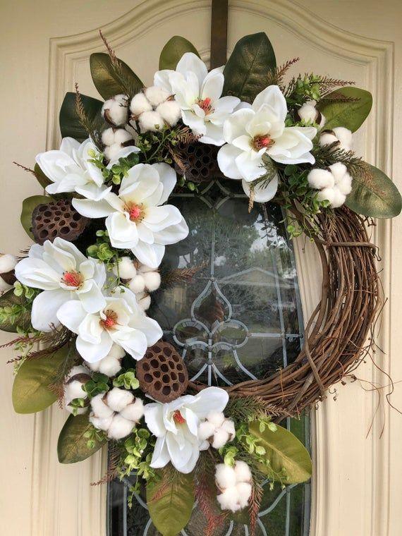 Photo of Monogram Wreath, Front Door Wreath, Monogram Wreath, Grapevine wreath, Monogram Wreath For Front Doo
