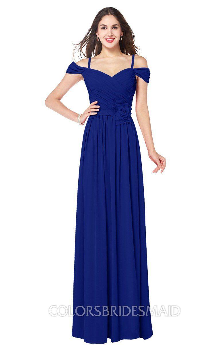 Colsbm susan electric blue bridesmaid dresses wedding