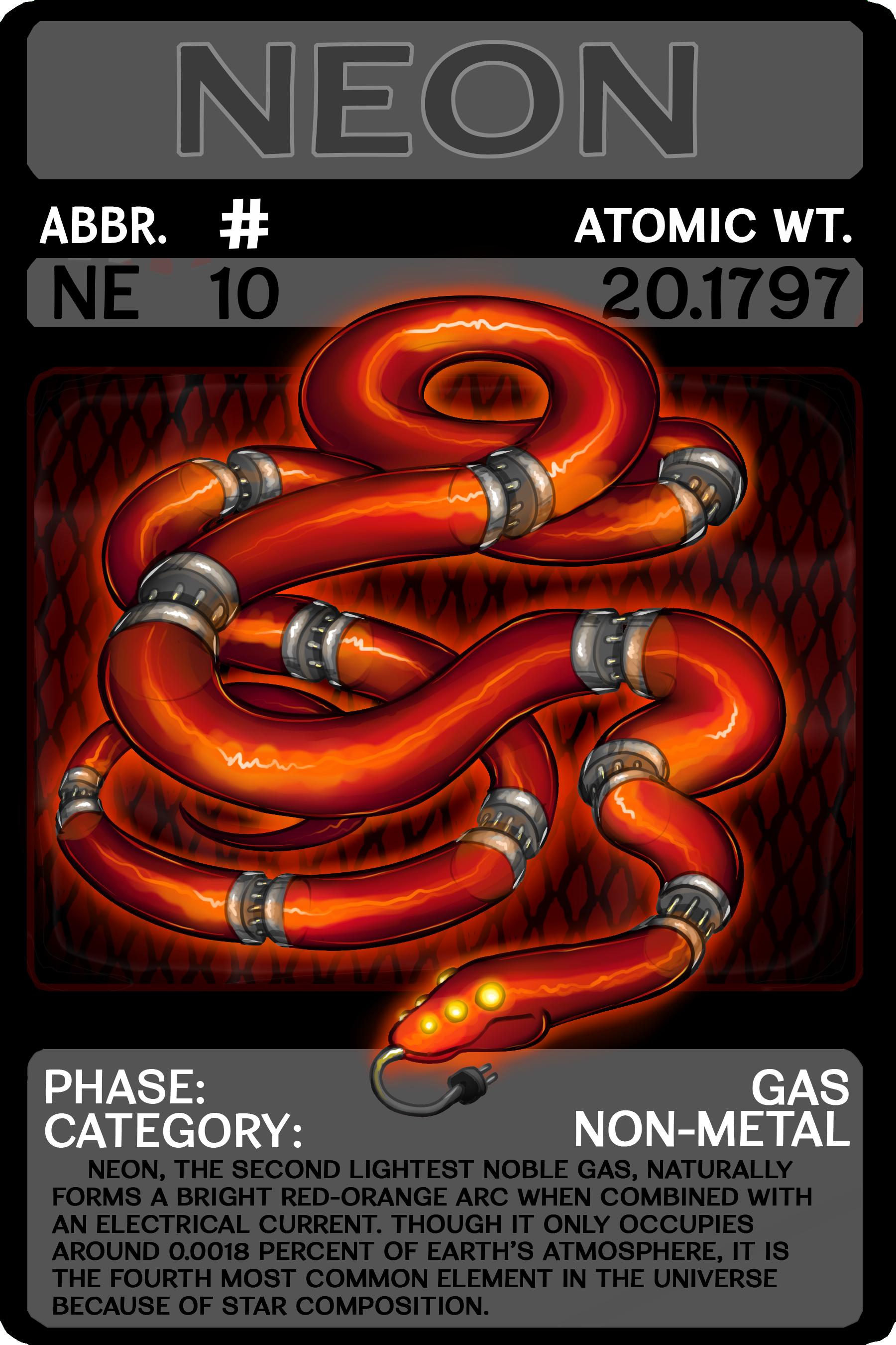Element 010 Neon Scygon Elemental Cards By
