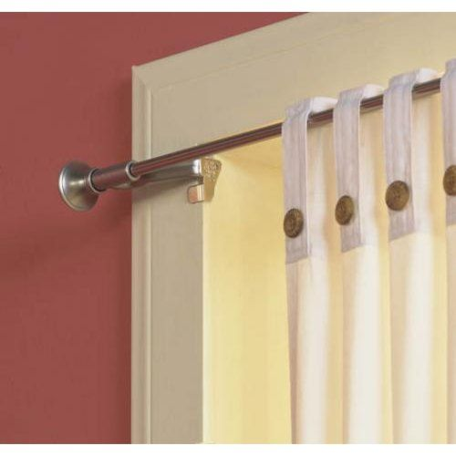 Levolor-Kirsch 70042444 Twist and Fit Tool-Less Curtain Rod, Satin ...