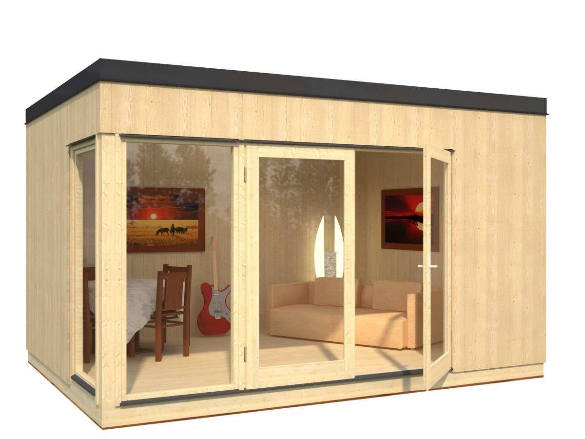 Gartenhaus Solveig 13,6 m², 452 x 330 cm, Flachdach