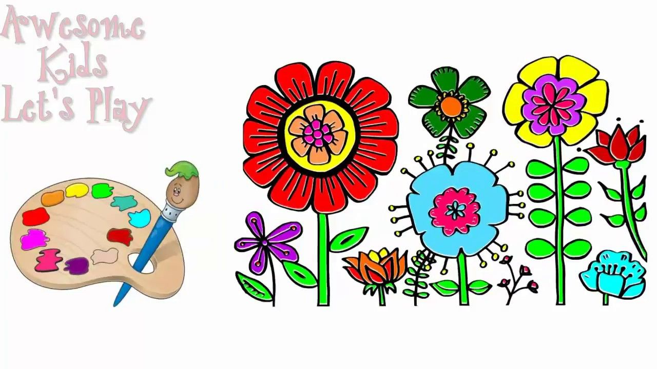How To Draw Flowers Coloring Flowers For Kids Coloring Pages Flowers ...