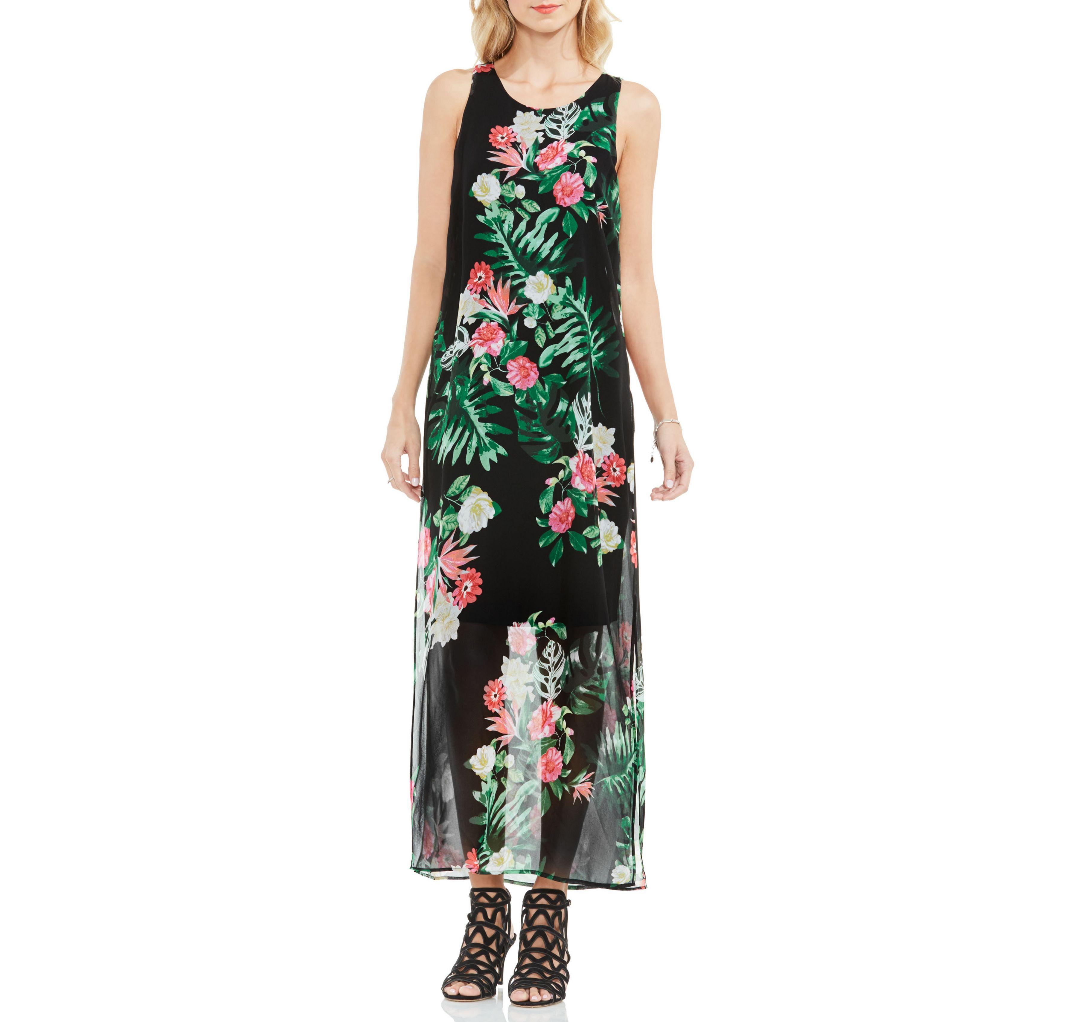 Vince Camuto Tropical Print Maxi Dress Vince Camuto Vintage Maxi Dress Holiday Maxi Dress Womens Long Maxi Dresses [ 3420 x 3588 Pixel ]