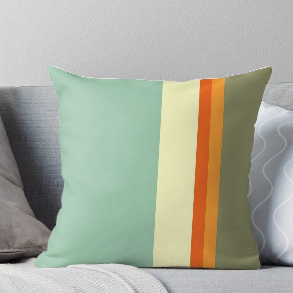 Twinkle Chenille Green Cream Stripe Cushion Cover Come/'s In 2 Sizes Brown