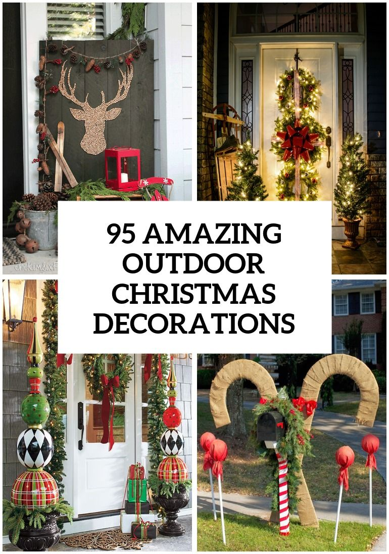 95 Amazing Outdoor Christmas Decorations Outside Christmas