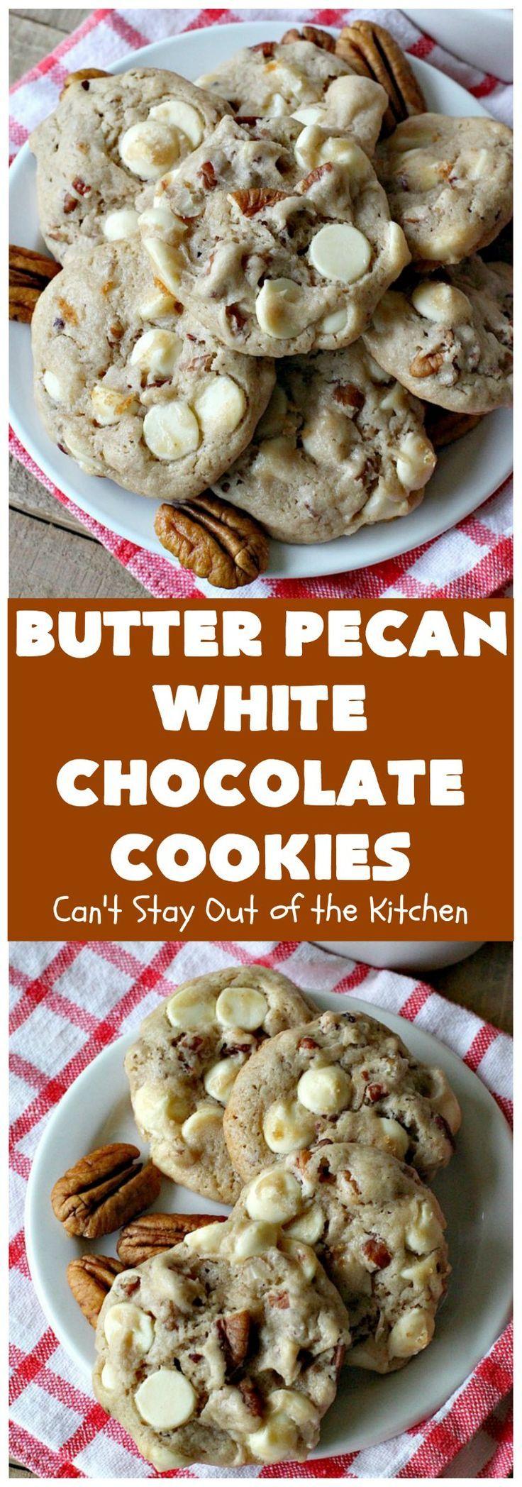 Butter pecan white chocolate cookies white chocolate