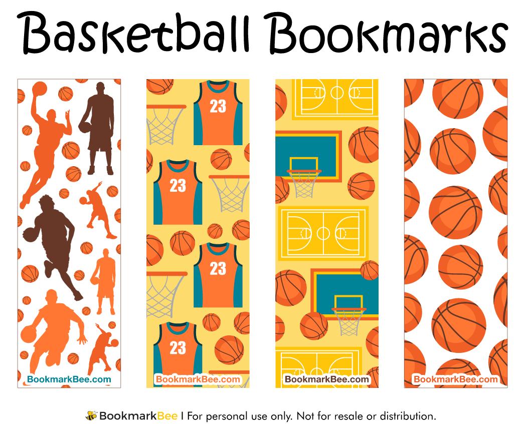 Bookmarkbee Bookmark Basketball