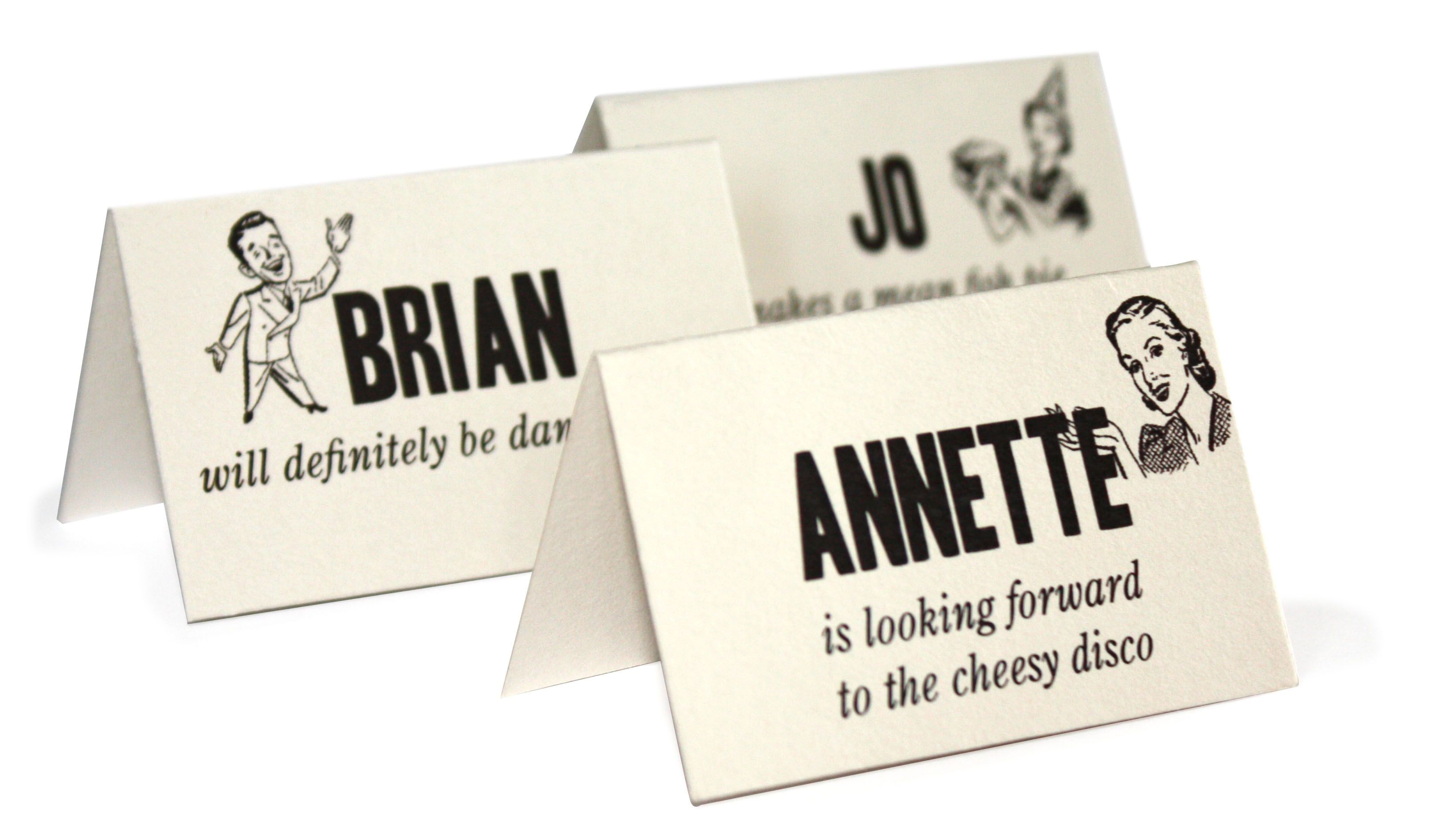Fun Wedding Reception Place Cards Place cards Reception and