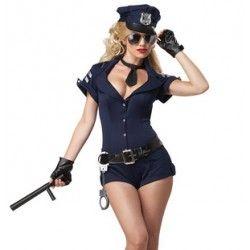 924f24d7f Fantasia Adulto feminina Policial Sexy Festa a Fantasia