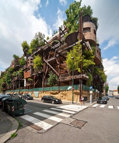 This Tree-Covered Apartment Building Cleans A Polluted City Block