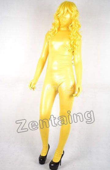 Golden Shiny Zentai Full Body Suit