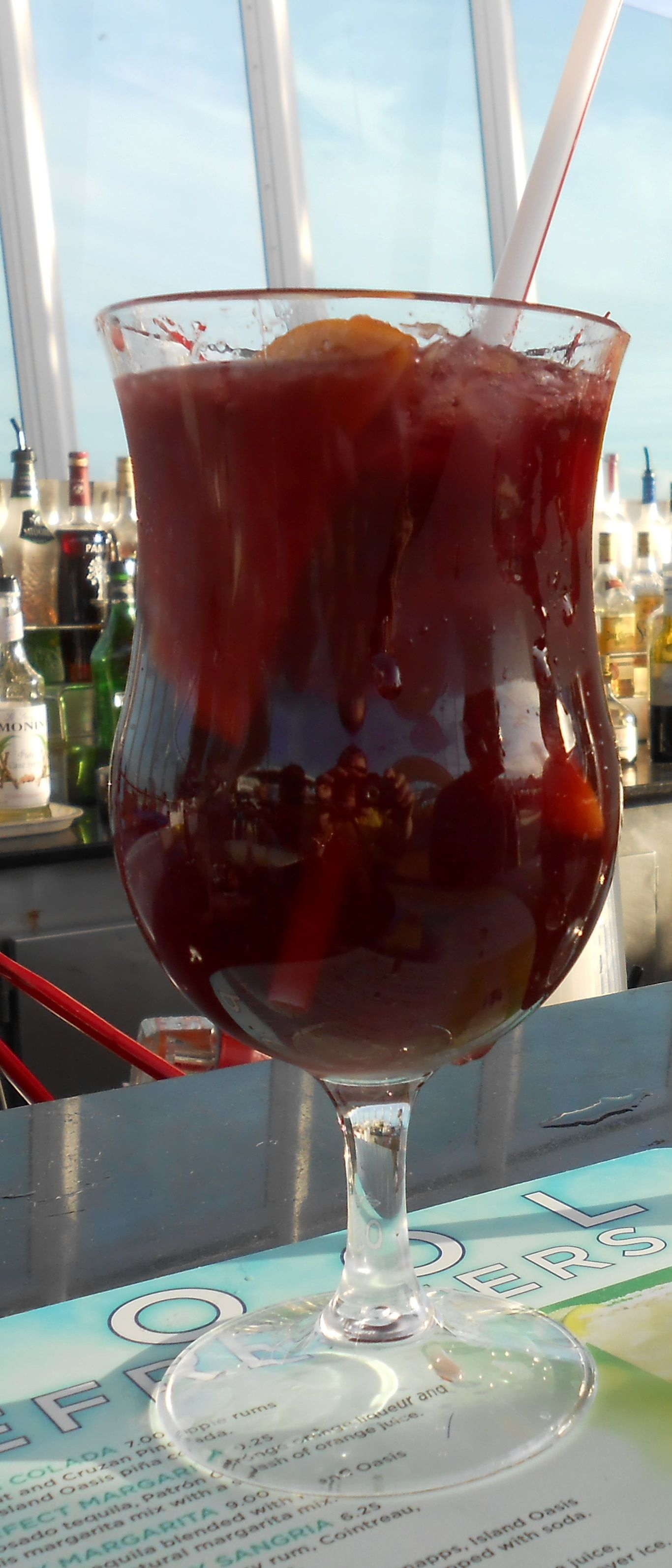 Royal Caribbean S Torched Cherry Sangria 3 Oz Merlot 1 2 Oz Bacardi Torched Cherry Rum 1 2 Oz Cointreau 3 4 Oz Cherry Sangria Fall Sangria Recipes Sangria
