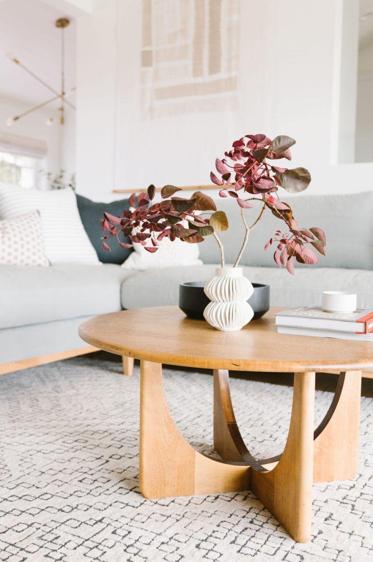 Samantha Gluck S Bright Minimal Scandi Inspired House Tour Home Decor Styles Coffee Table Modern Wood Coffee Table [ 1158 x 768 Pixel ]