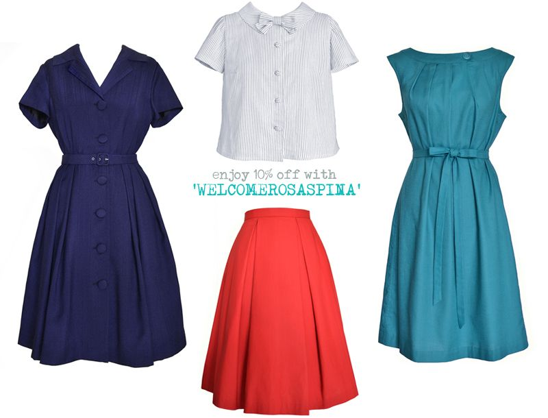 Rosaspina Vintage: Last day to get your 10% off with the code WELCOMEROSASPINA!