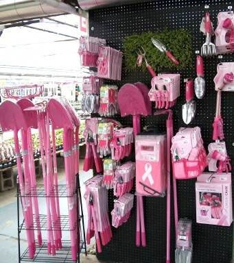 Support T Cancer With Pink Gardening Tools