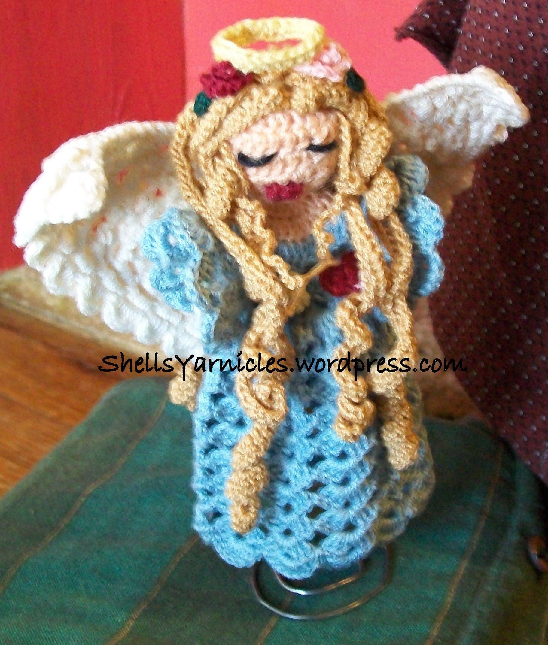 Contemporáneo Los Patrones De Crochet Libre De ángel Embellecimiento ...