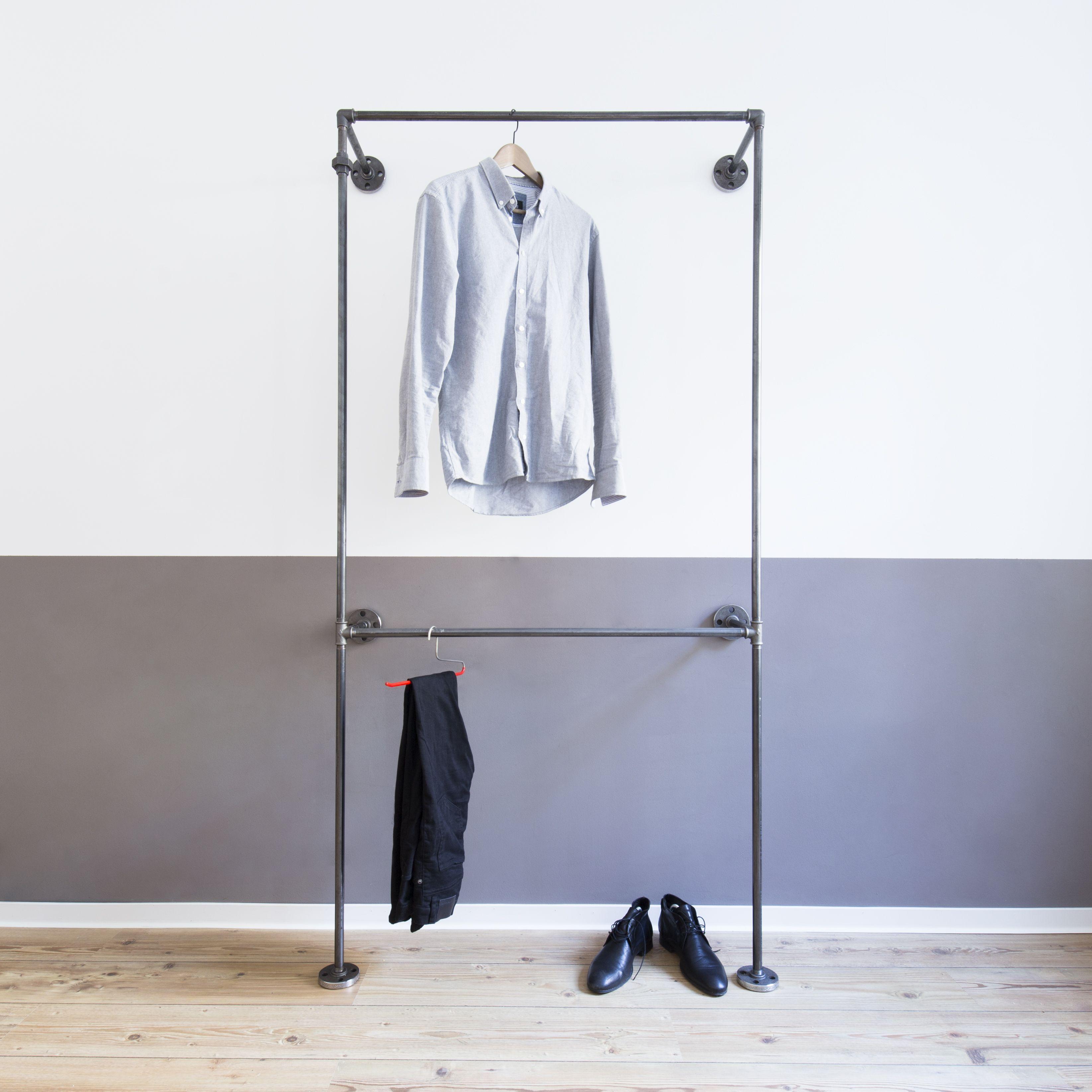 Befestigung Für Kleiderstange offener kleiderschrank open wardrobe kleiderstange clothes