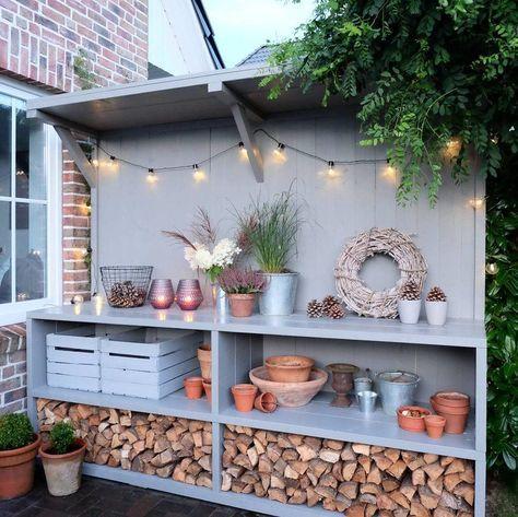 Gartentresen DIY #sichtschutzterasse